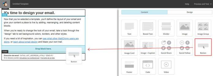 Agregar CTA a template MailChimp