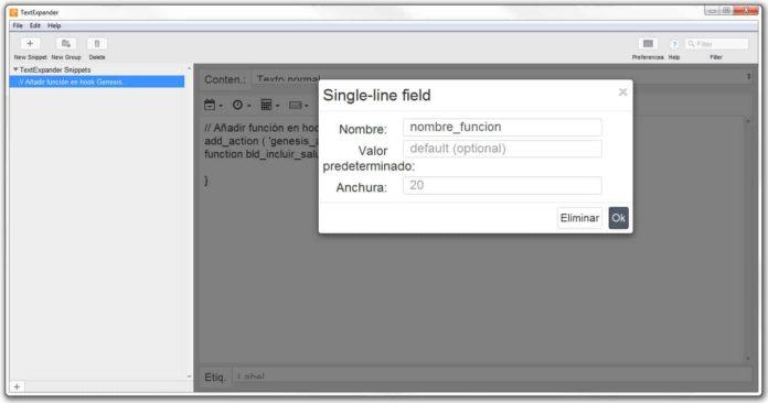 Completar opciones campo rellenable/fill-in
