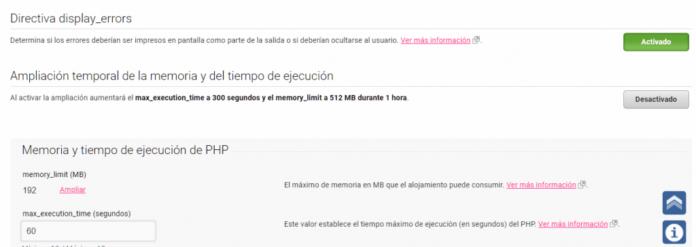 Ampliar memoria PHP