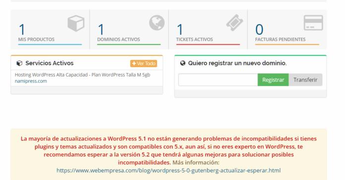 No recomiendan instalar WordPress 5