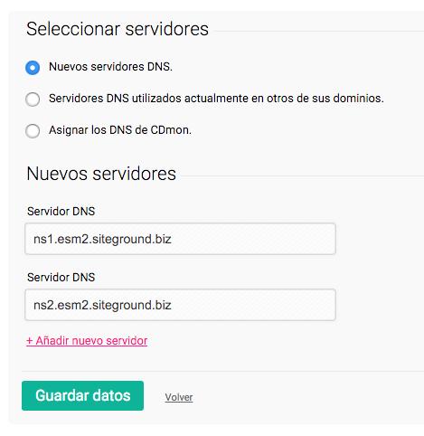 Configurar servidores DNS