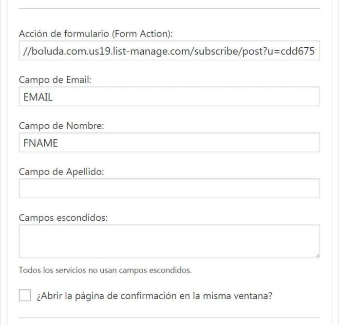 Configurar widget Genesis eNews Extended
