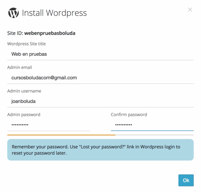 configurar wordpress pilvia