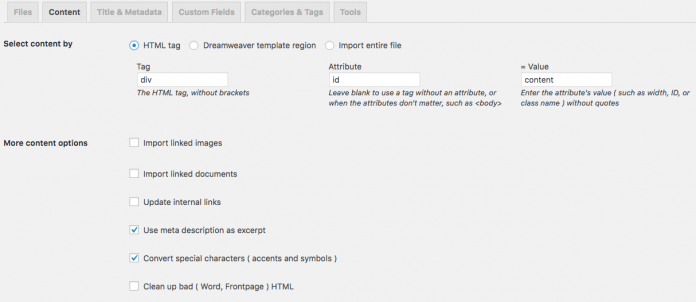 contenido html a wordpress