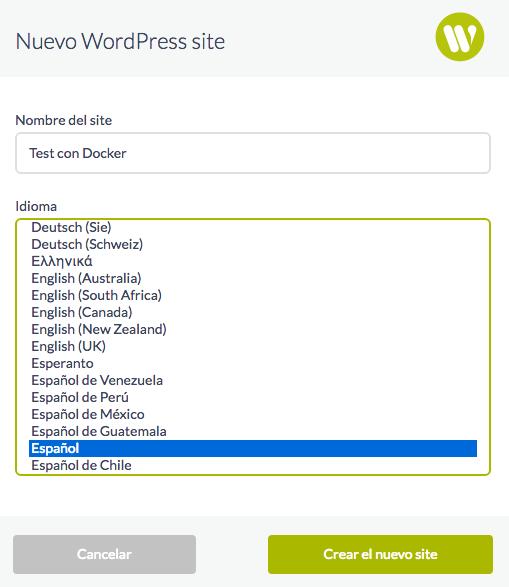 Elegimos título e idioma