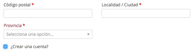 Al activar esta casilla, se creará una cuenta automaticamente