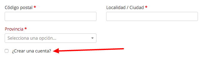 Si activamos esta opción, nos aparece esta casilla en la página de pedido