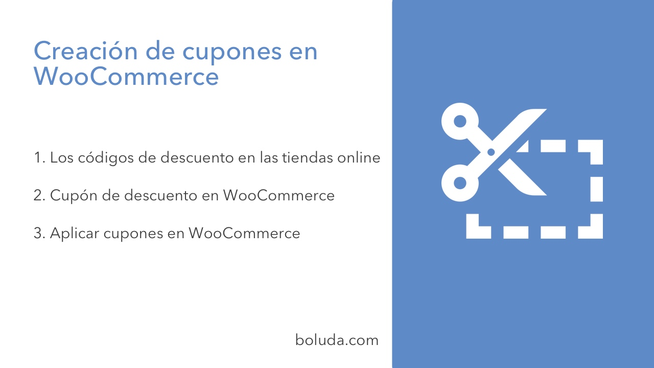 5232a7f89 Creación de cupones en WooCommerce - Boluda.com