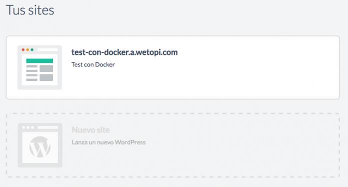 Creamos otro site en la misma cuenta de Wetopi