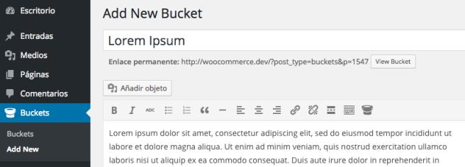 Crear un contenido es tan fácil como crear una página