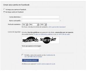 Cuenta comercial en Facebook
