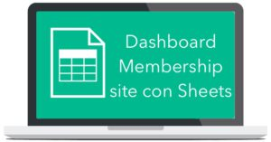 dashboard membership google sheets
