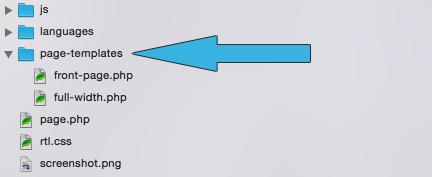 El directorio /page-templates/ se reconoce automáticamente
