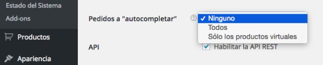 El plugin nos permite elegir entre completar todos o sólo los virtuales