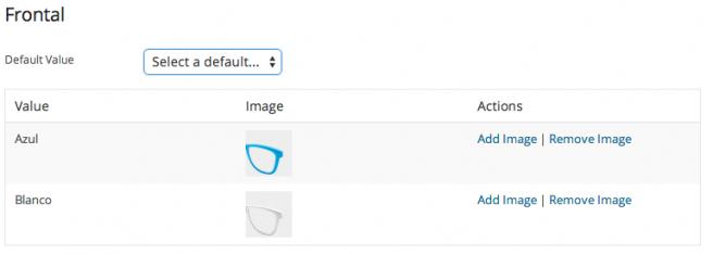 Asignas una imagen con fondo trasparente a cada opción