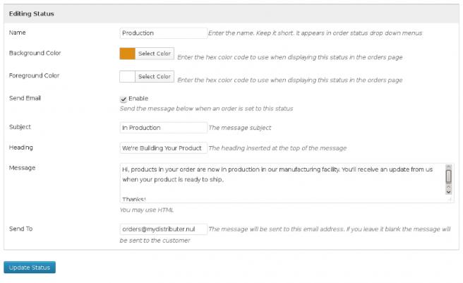 Email estado pedido