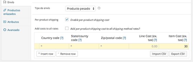 Podemos asignar un precio extra por cada producto