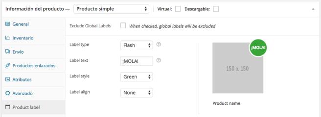 Podemos crear la etiqueta de forma fácil y simple