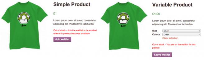 El cliente puede apuntarse a la lista de espera para recibir un correo cuando tengamos de nuevo al producto
