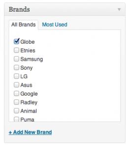 Añadir marcas en WooCommerce
