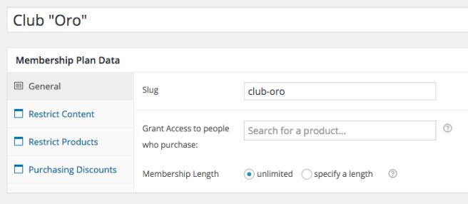 El plugin nos permite crear niveles de suscripción para acceder a cierto contenido