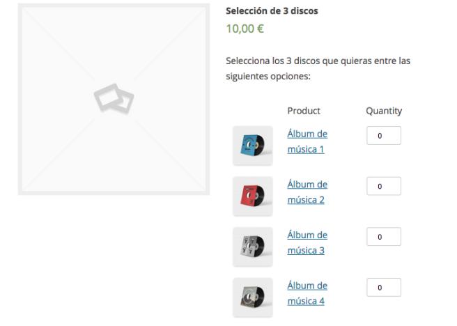 El plugin permite al usuario que seleccione los productos que más le interesen