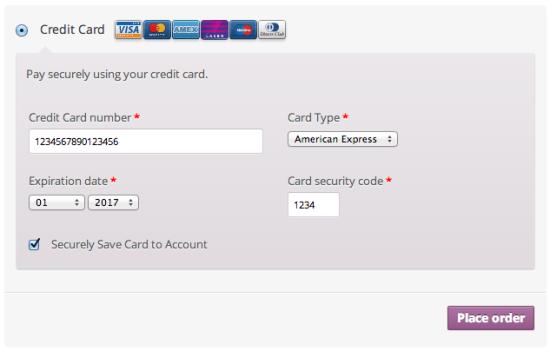 El sistema te permite ofrecer el pago con tarjeta
