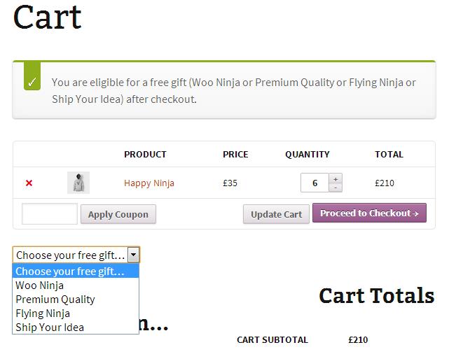Producto de regalo en WooCommerce