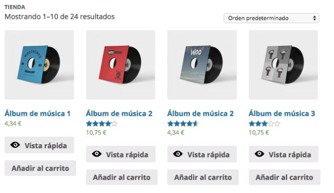"""El plugin añade un botón de """"Vista rápida"""" en cada producto"""