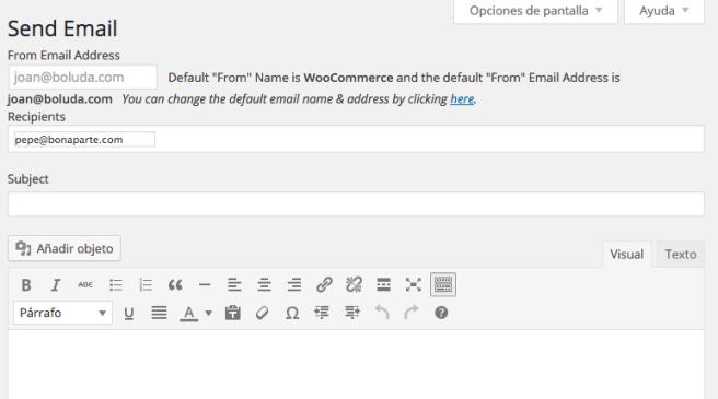 Podemos enviar emails al cliente desde WordPress