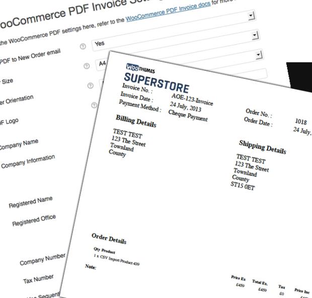 El plugin permite personalizar el PDF de las facturas a tu gusto
