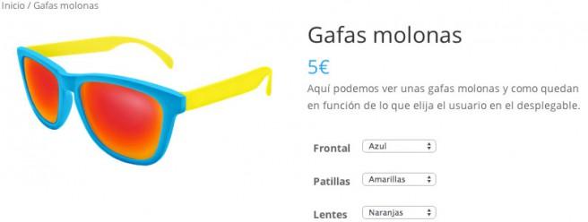 El usuario puede ver a tiempo real su producto personalizado
