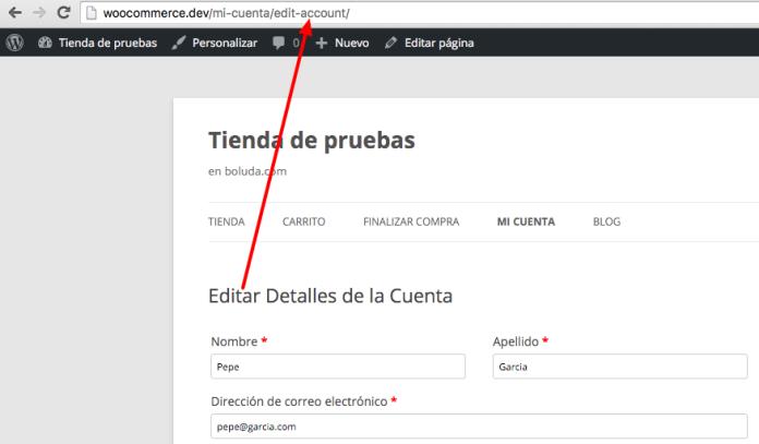 Podremos crear enlaces directos para editar la cuenta