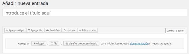 El Editor Page Builder también se integra más a la experiencia WordPress