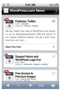 Ejemplo de blog optimizado para móviles