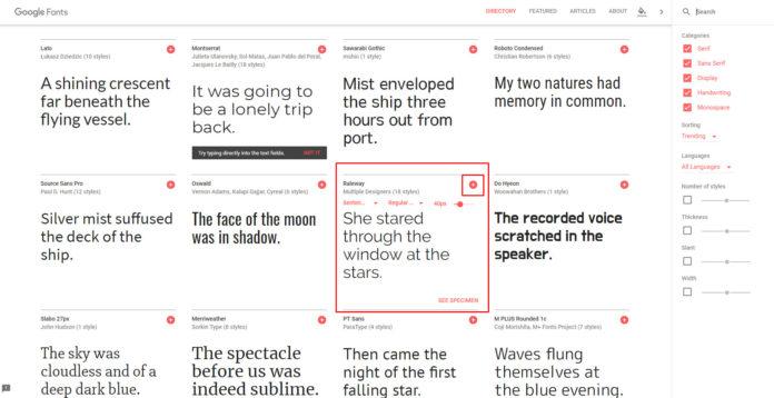 Elegir fuentes Google Fonts para importar en nuestro sitio