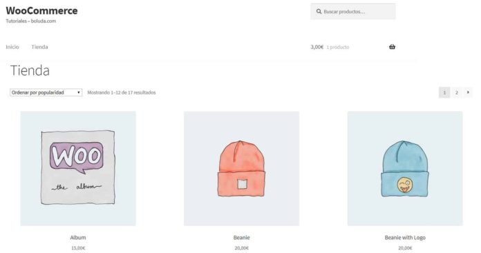 Sidebar eliminada en Storefront y contenido con ancho completo