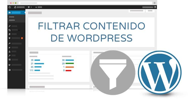 filtrar contenido de wordpress
