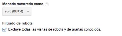 Filtramos los robots y arañas conocidos de forma automática