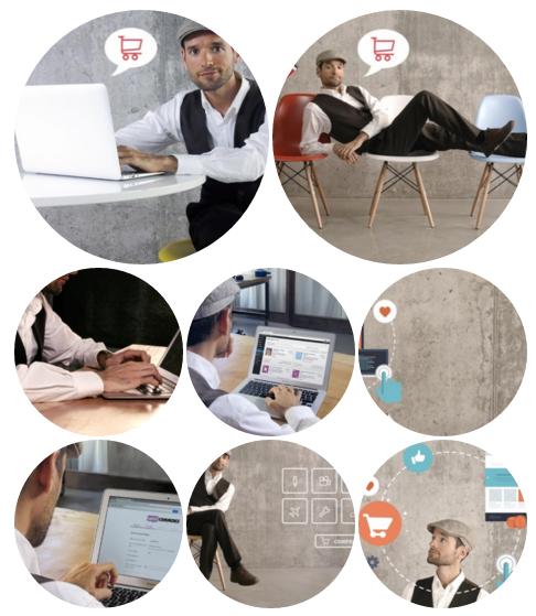 """La opción """"Circles"""" confecciona un mosaico de imágenes circulares"""