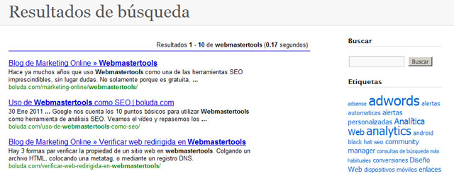 La búsqueda personalizada de Google queda integrada en la web
