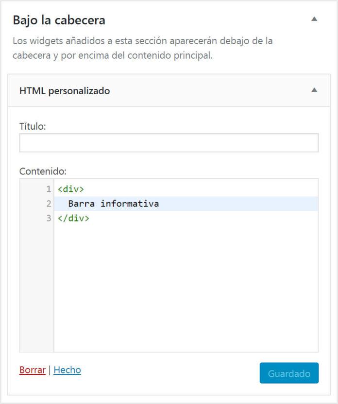Código HTML de prueba