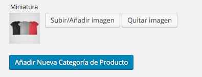 Podemos seleccionar una imagen para cada categoría de productos