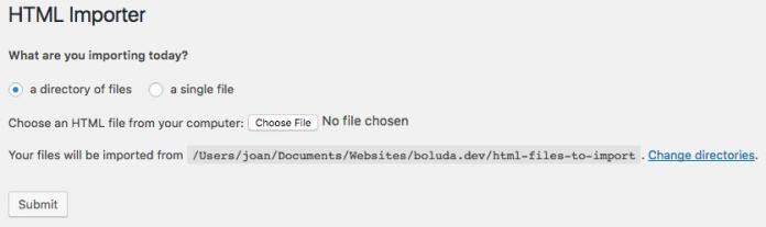 Importaremos todos los archivos de un directorio a WordPress