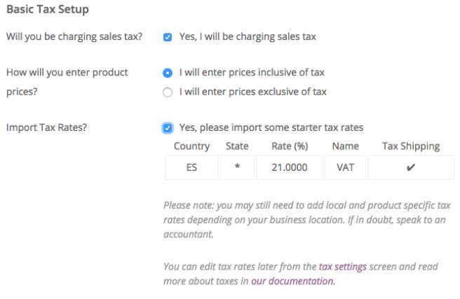 Si sólo trabajamos con un tipo de IVA, lo podemos hacer todo aquí