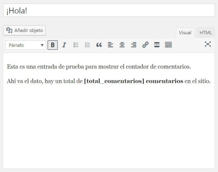 Incluir shortcode en post para mostrar total comentarios aprobados