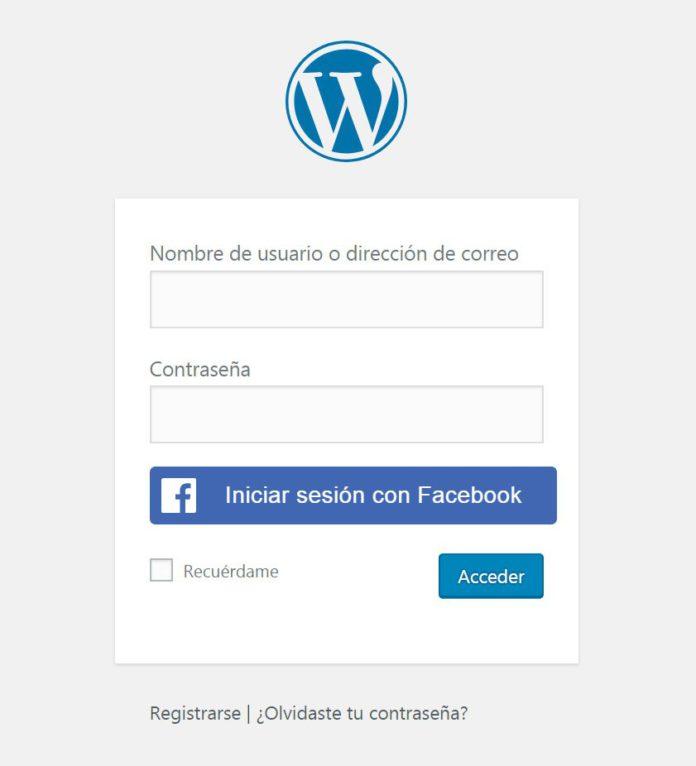 Wp Login: Facebook Login En WordPress