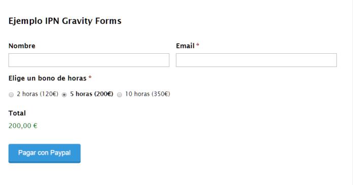 Crearemos un formulario de compra