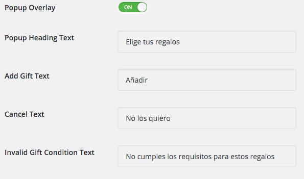 Personalizamos los mensajes para el cliente