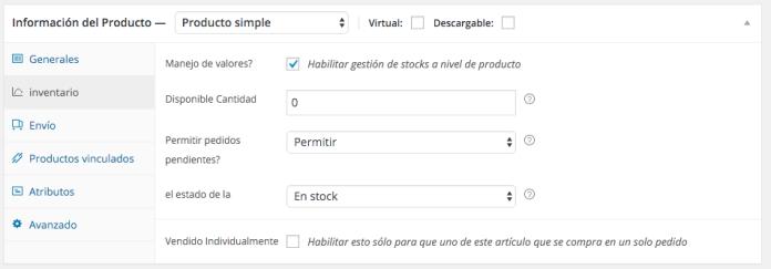 """Podemos """"simular"""" la disponibilidad de un producto agotado"""
